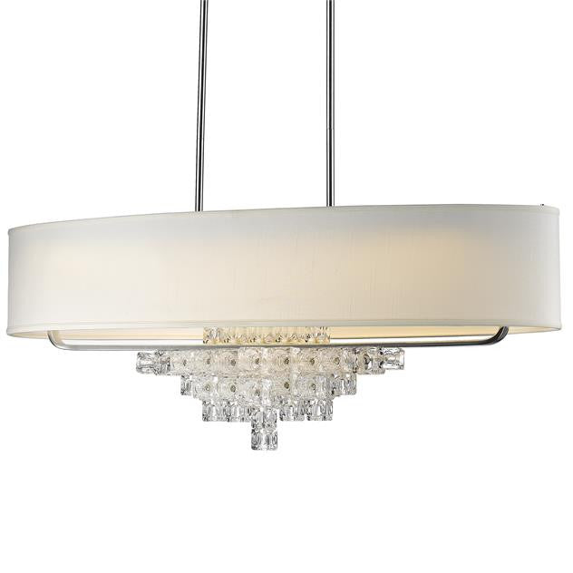 Polished Chrome with Shade 7 Light Chandelier, Lighting, Laura of Pembroke