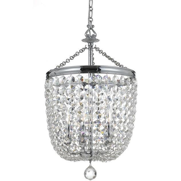 5 Light Crystal Polished Chrome Chandelier