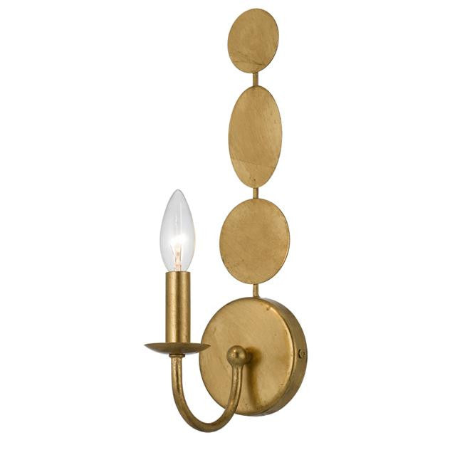 Circle Detail Antique 1 Light Gold Sconce, Lighting, Laura of Pembroke