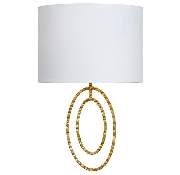 Circle Detail Antique 2 Light Gold Sconce, Lighting, Laura of Pembroke