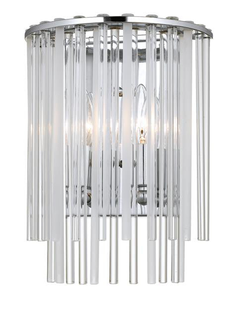 Polished Chrome Steel 2 Light Sconce, Lighting, Laura of Pembroke