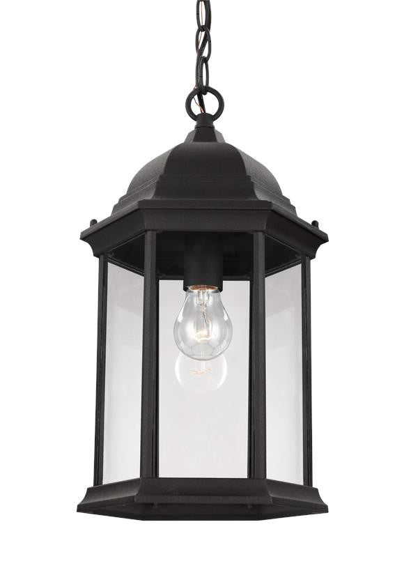 Black Classic Outdoor One Light Pendant, Lighting, Laura of Pembroke