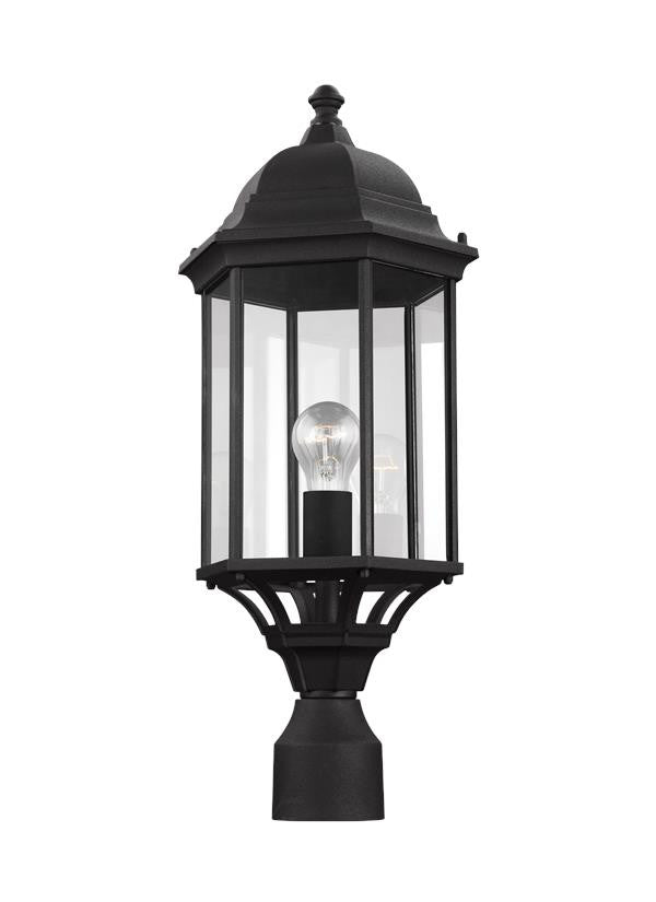 Black Classic Outdoor One Light Post Lantern, Lighting, Laura of Pembroke