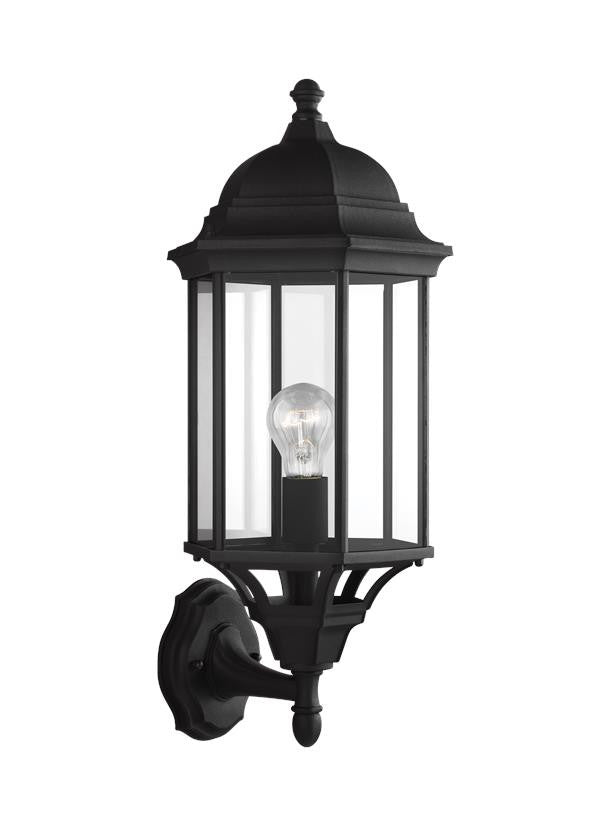 Black Classic Outdoor Large 1 Light Uplight Wall Lantern