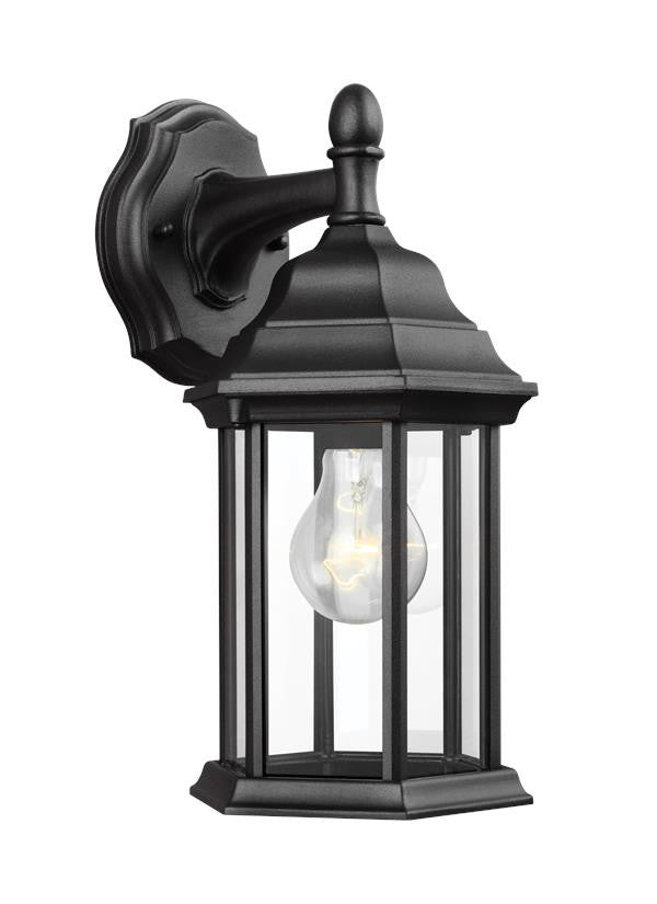 Black Classic Outdoor Small 1 Light Downlight Wall Lantern
