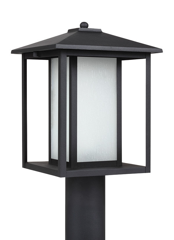 Transitional Minimalism Weathered Black 1 Light Outdoor Post Lantern, Lighting, Laura of Pembroke