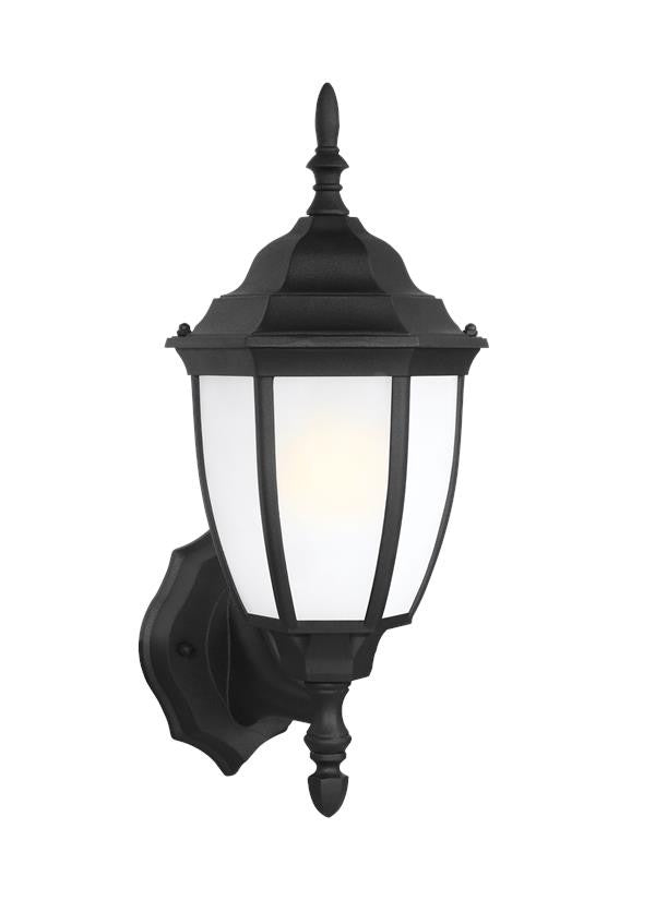 Black Traditional Outdoor 1 Light Wall Lantern, Lighting, Laura of Pembroke