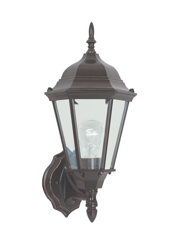 Bronze Traditional Outdoor 1 Light Wall Lantern, Lighting, Laura of Pembroke