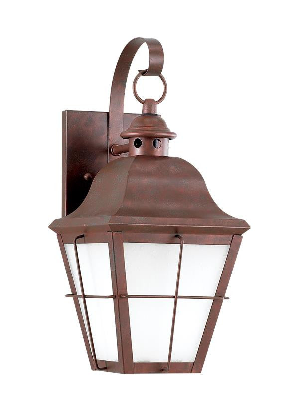 Classic Window Pane Weathered Copper 1 Light Outdoor Wall Lantern, Lighting, Laura of Pembroke