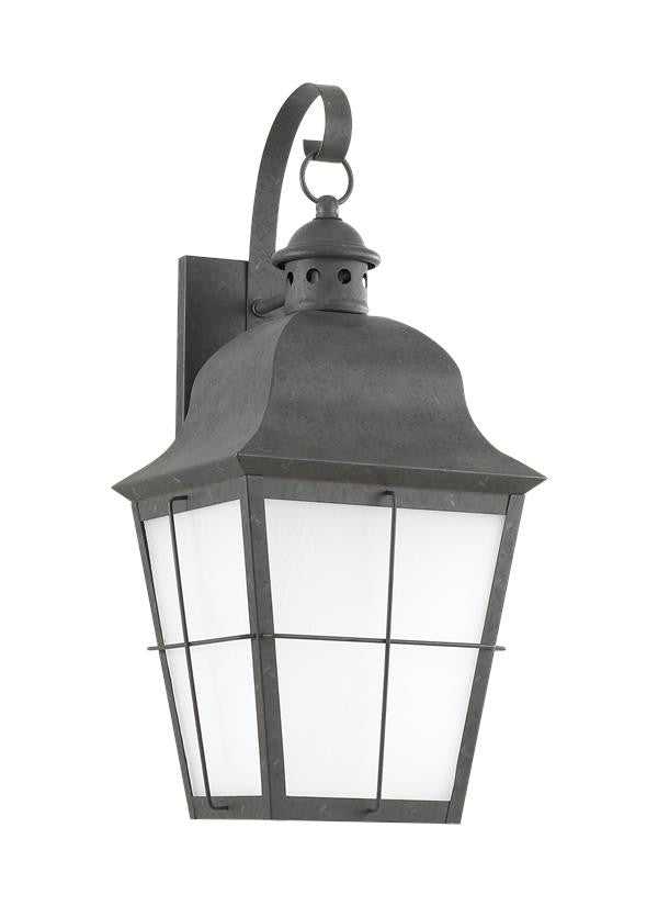 Classic Window Pane Oxidized Bronze 1 Light Outdoor Wall Lantern, Lighting, Laura of Pembroke