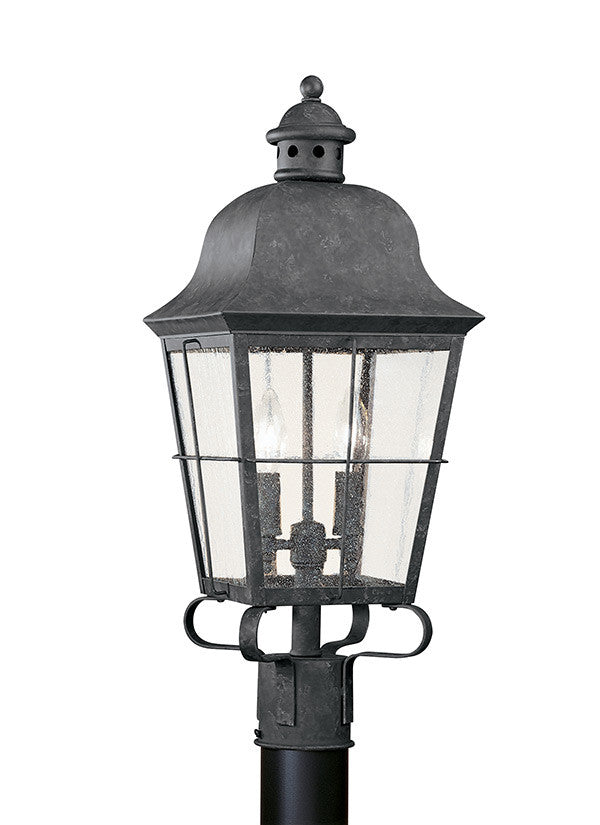 Classic Window Pane Oxidized Bronze 2 Light Outdoor Wall Lantern, Lighting, Laura of Pembroke
