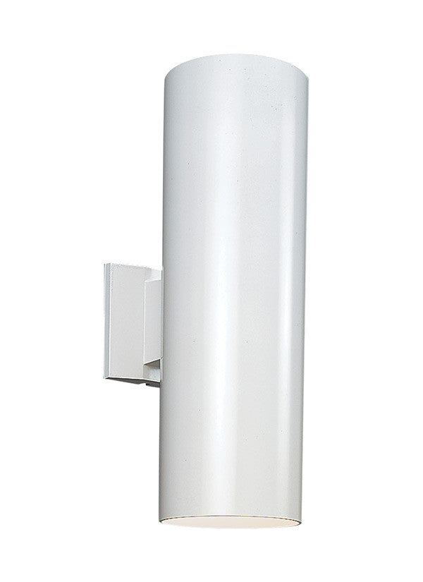Outdoor Cylinders White 2 Light Wall Lantern