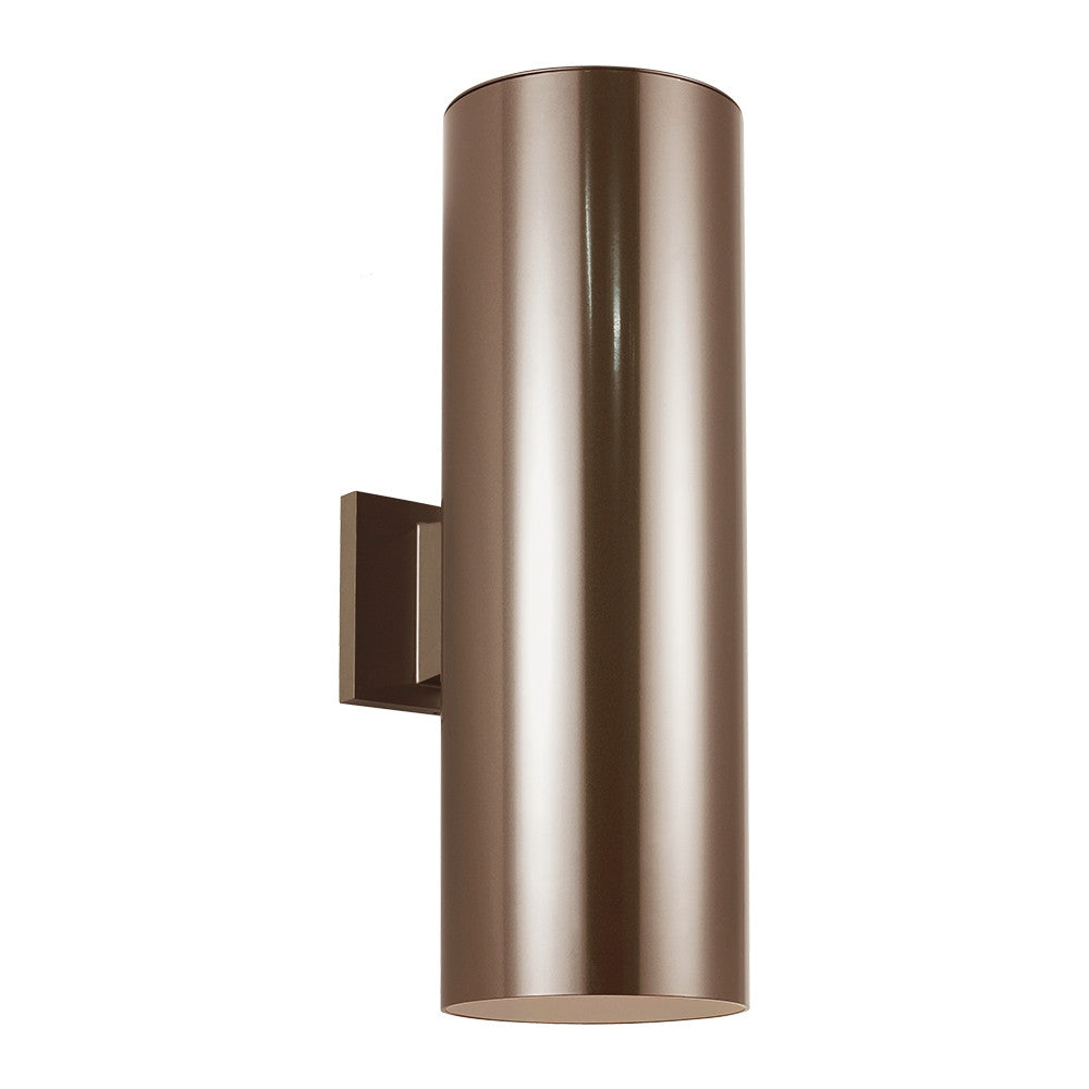 Outdoor Cylinders Bronze Large 2 Light Wall Lantern, Lighting, Laura of Pembroke