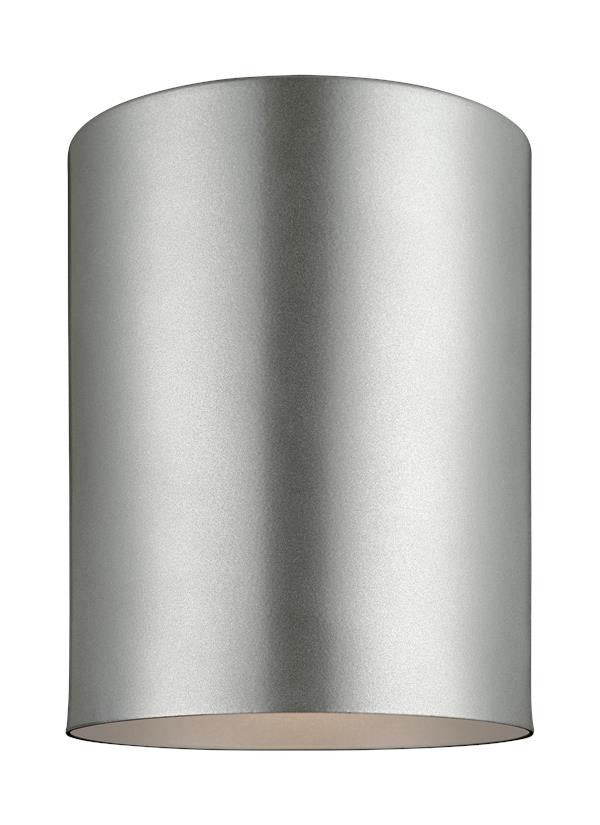 Outdoor Cylinders Painted Brushed Nickel 1 Light Ceiling Flush Mount, Lighting, Laura of Pembroke