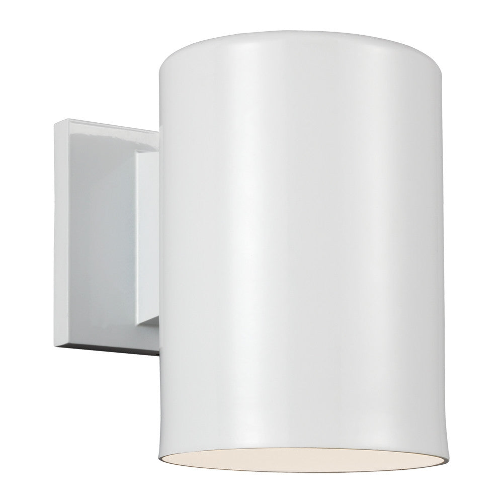 Outdoor Cylinders White Large 1 Light Wall Lantern, Lighting, Laura of Pembroke