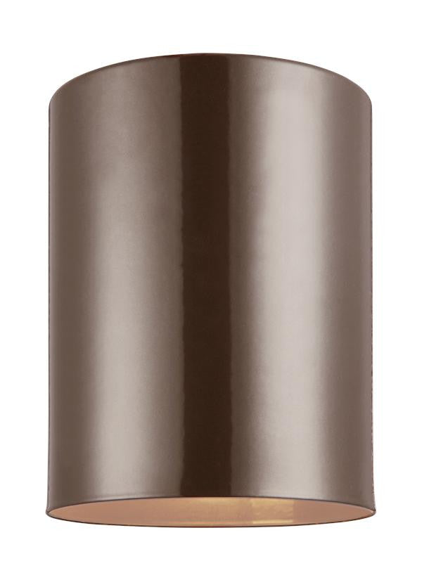 Outdoor Cylinders Bronze 1 Light Ceiling Flush Mount