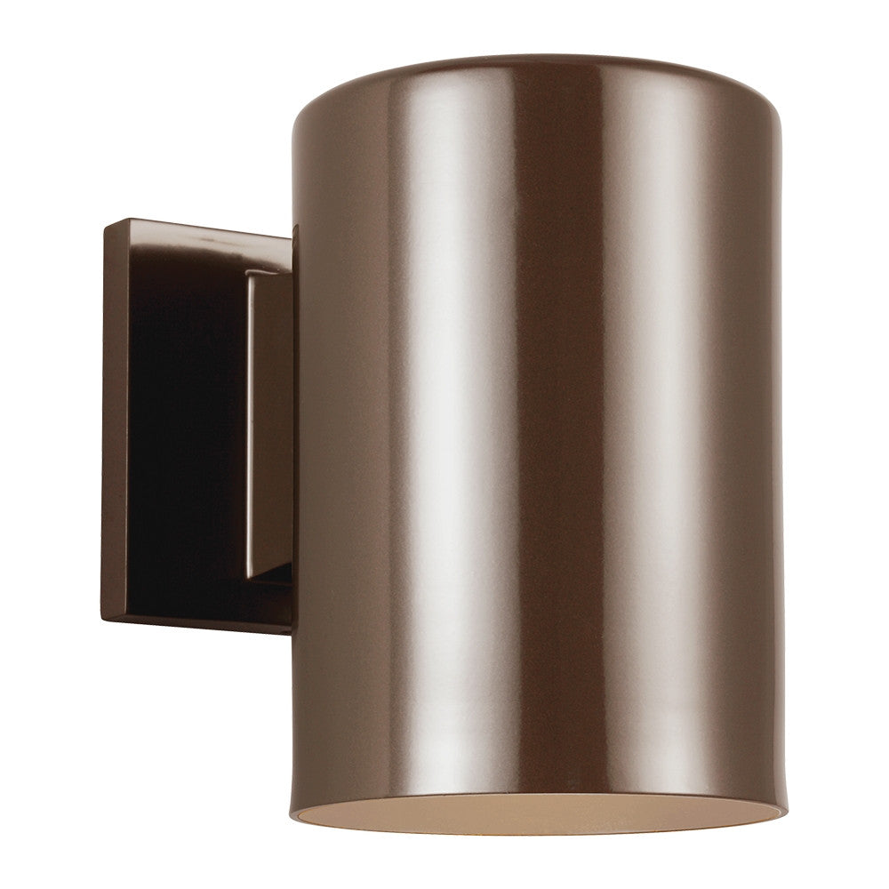 Outdoor Cylinders Bronze Large 1 Light Wall Lantern, Lighting, Laura of Pembroke