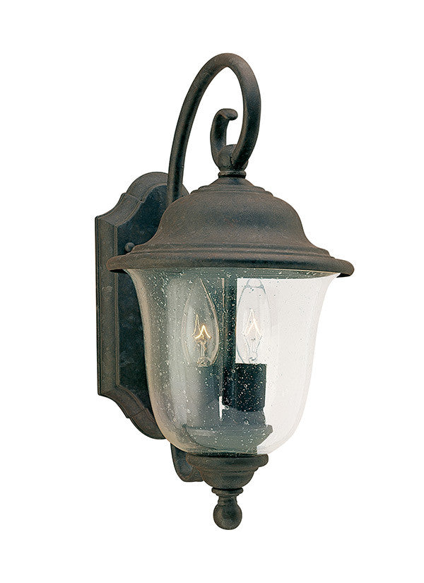 Oxidized Bronze Outdoor 2 Light Wall Lantern, Lighting, Laura of Pembroke