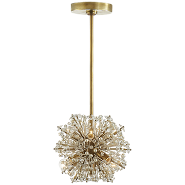 Kate Spade Glass and Pearl Mini Chandelier in Soft Brass