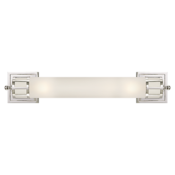 Long Sconce in Chrome with Frosted Glass