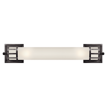 Long Sconce in Bronze with Frosted Glass