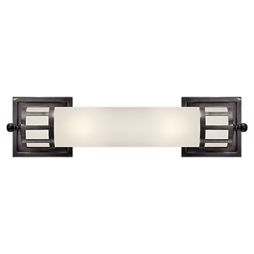 Medium Sconce in Bronze with Frosted Glass