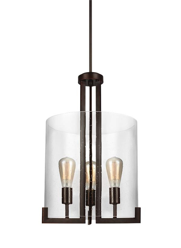 3 Light Burnt Sienna Hall/ Foyer Sconce