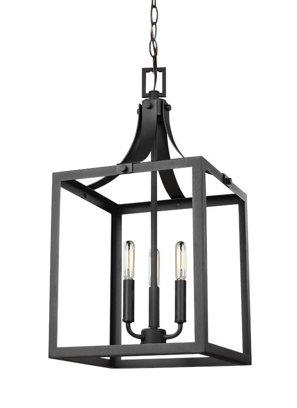 Medium 3 Light Hall/Foyer in Black
