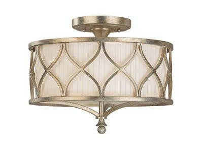 3 Light Semi-Flush Fixture in Winter Gold