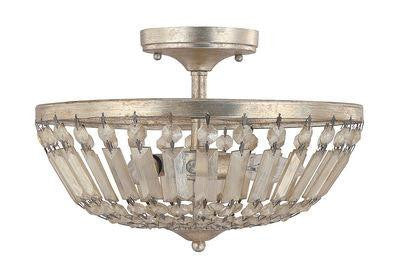 3 Light Semi-Flush Fixture Traditional