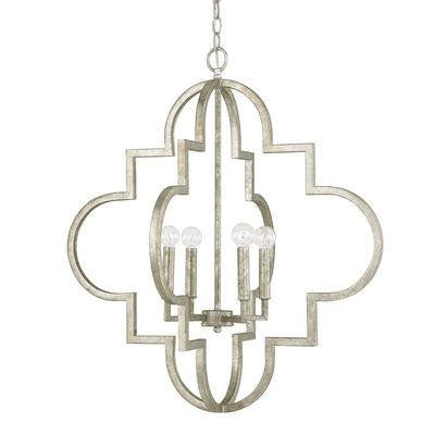 Antique Silver 4 Light Pendant