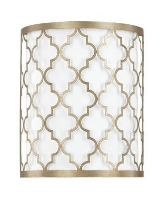 2 Light Sconce in Brushed Gold