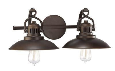 Burnished Bronze 2 Light Vanity Fixture, Lighting, Laura of Pembroke