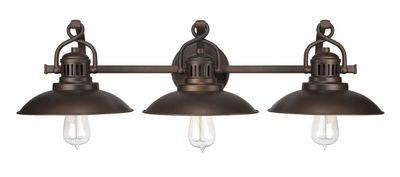 Burnished Bronze 3 Light Vanity Fixture, Lighting, Laura of Pembroke