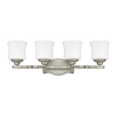 Antique Silver 4 Light Vanity Fixture