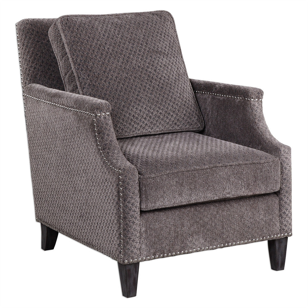 Grey Houndstooth Accent Chair, Home Furnishings, Laura of Pembroke