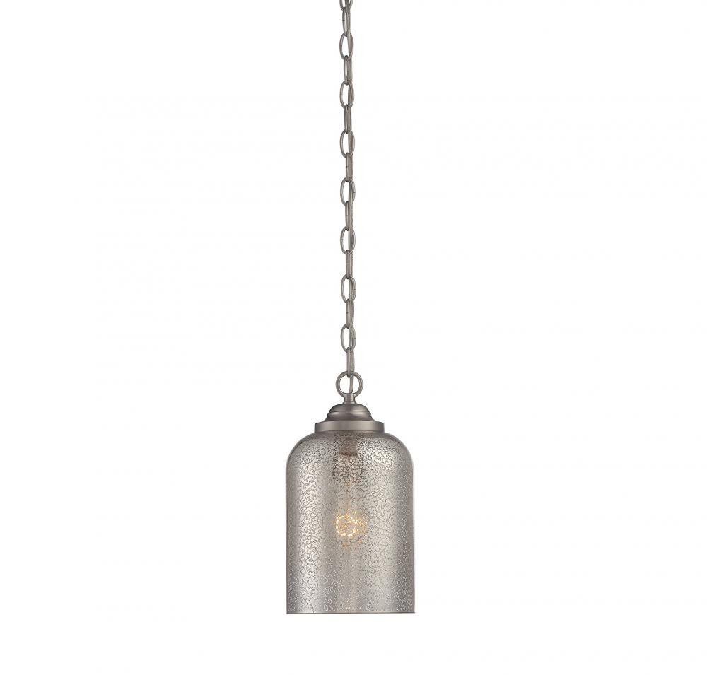 Silver Mercury 1 Light Pendant, Lighting, Laura of Pembroke