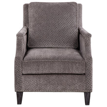 Grey Houndstooth Accent Chair