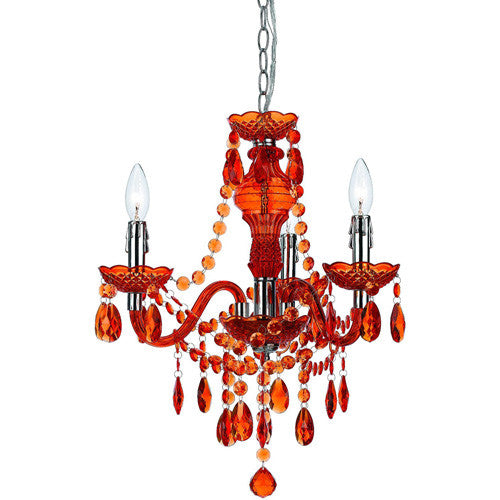Orange Mini Chandelier, Lighting, Laura of Pembroke