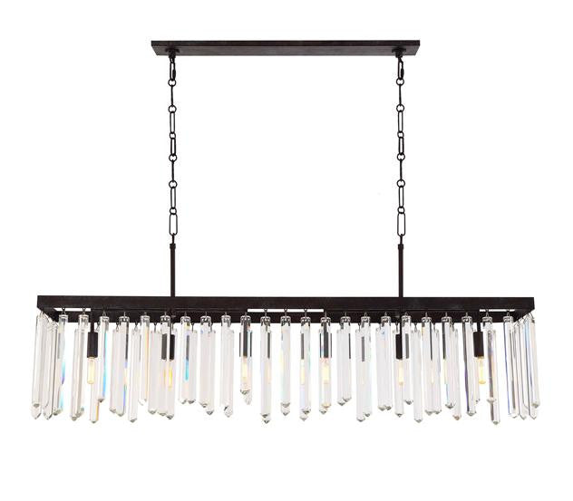 Drop Crystal 6 Light Chandelier, Lighting, Laura of Pembroke