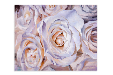 55x68 White Roses Art, Home Accessories, Laura of Pembroke