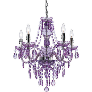 Purple Chandelier, Lighting, Laura of Pembroke