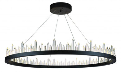 56 light Satin Dark Grey Chandelier Clear Royal Cut Crystal