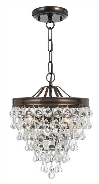 Crystal Teardrop 3 Light Bronze Pendant, Lighting, Laura of Pembroke