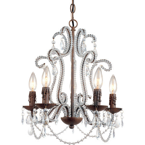 5 Light Mini Chandelier Lighting Laura of Pembroke - Laura of Pembroke Canton Ohio Boutique