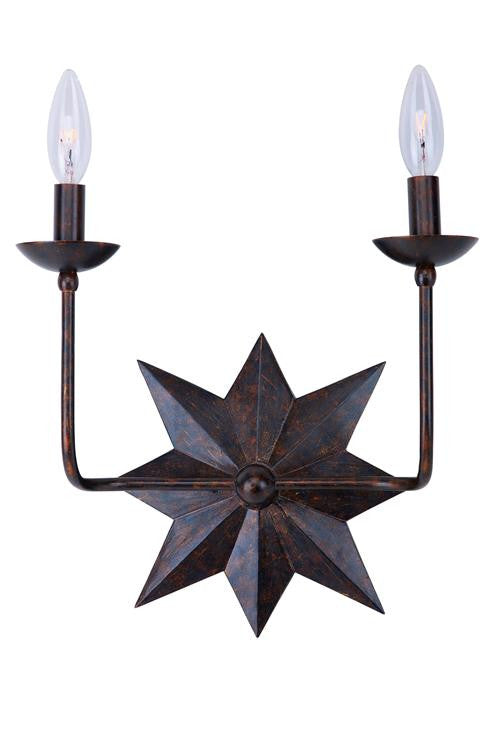 Bronze Star 2 Light Sconce, Lighting, Laura of Pembroke