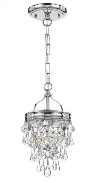 Crystal Teardrop 1 Light Chrome Pendant, Lighting, Laura of Pembroke