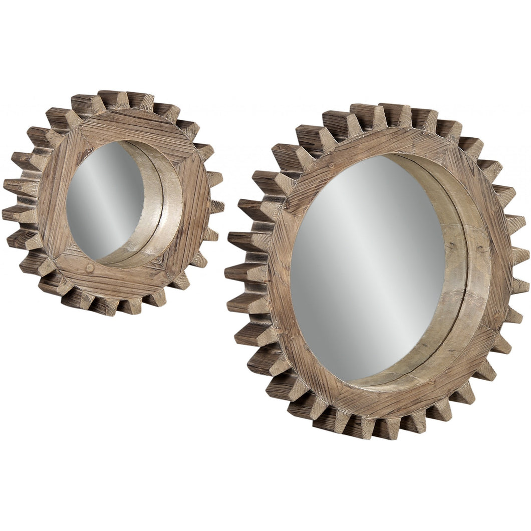 Sprockets Wall Mirrors, Set of 2, Mirrors, Laura of Pembroke