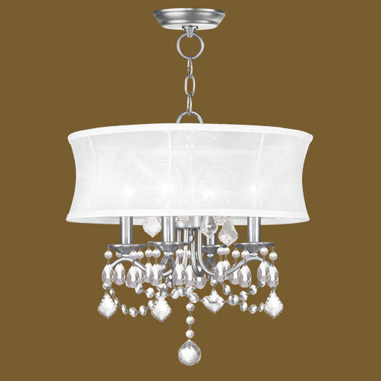 Crystal Chandelier with Shade, Lighting, Laura of Pembroke
