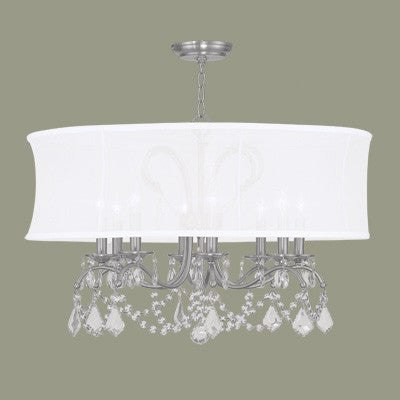 Drum Chandelier with Crystals, Lighting, Laura of Pembroke